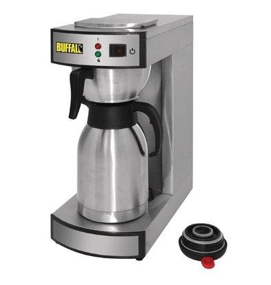 Buffalo Koffiezetapparaat RVS | 2,2 Liter | 100 Kopjes p/u | 195x360x(H)455mm