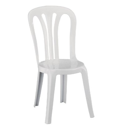 XXLselect Stapelstoel Sterk Wit Plastic - Prijs per 6 Stuks