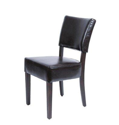 Bolero Kunstlederen stoel Ruig - Donkerbruin - Prijs per 2 stuks - 426x450x(h)858mm