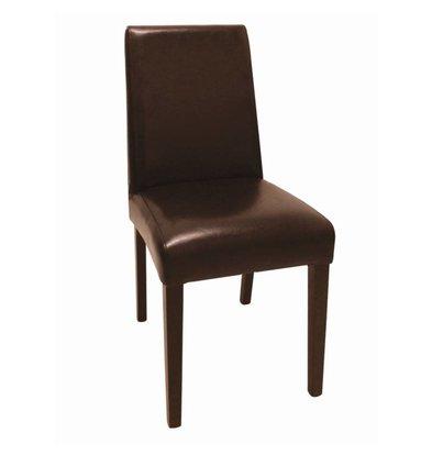Bolero Kunstlederen stoel met Rug - Donkerbruin - Prijs per 2 stuks - 405x500x(h)940mm