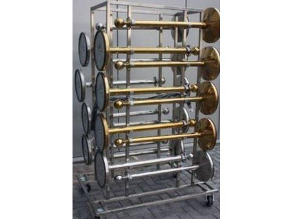Saro Afzetpaal Chroom 9 kg - met Blauw trekband 180cm - Copy