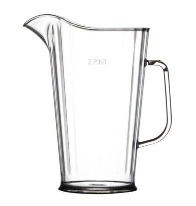 BBP Polycarbonate juice jug | Vaatwasmachinebstendig | 1.2 Liter | Ø151x (H) 210mm | Per 4 Pieces