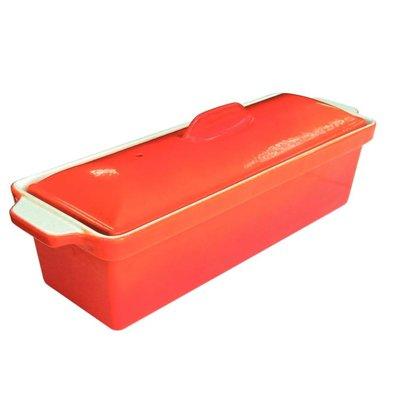 Vogue Pate Terrine | Orange | 1.75 Liter | Stainless Steel Pan | Nonstick Low | 340x105x (H) 110mm