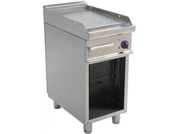 Saro OUTLET Bakplaat Glad Elektrisch Open Onderstel Casta - 40x70x(h)85cm - 400V/5,4kW -
