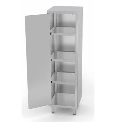 XXLselect Stainless Steel Cabinet Swing door + 1 + 3 Shelves | HEAVY DUTY | 400x700x2000 (h) mm | CHOICE OF 3 WIDTHS