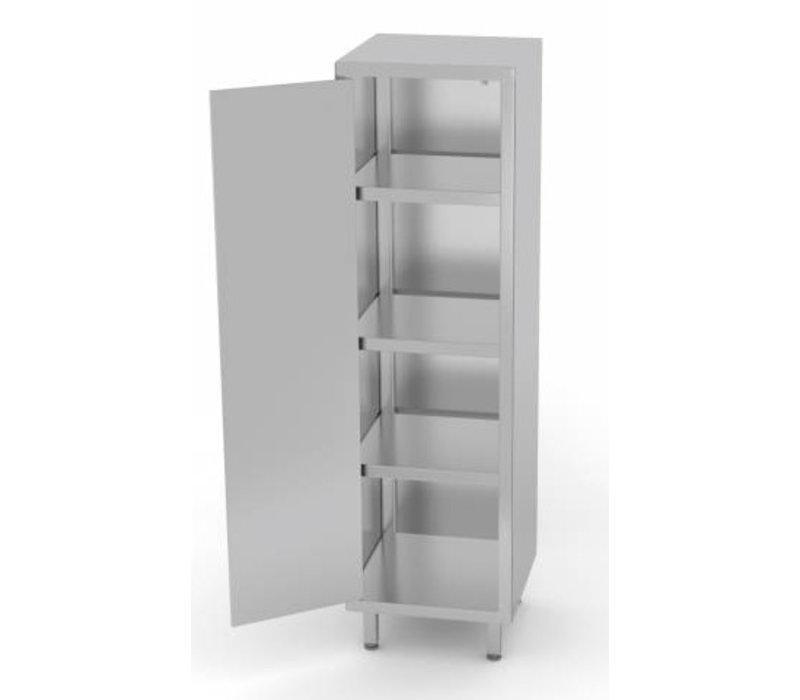 XXLselect Stainless Steel Cabinet Swing door + 1 + 3 Shelves | HEAVY DUTY | 400x500x2000 (h) mm | CHOICE OF 3 WIDTHS