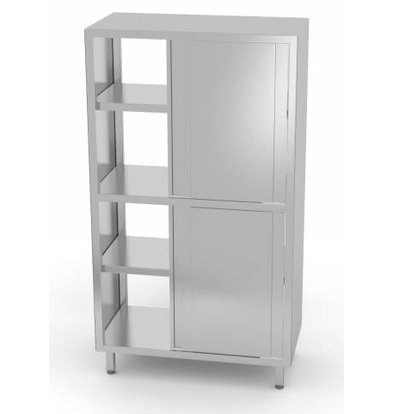 XXLselect Porcelain Cabinet Sided + 8 + 3 Sliding Shelves | 800x700x2000 (h) mm | CHOICE OF 5 WIDTHS