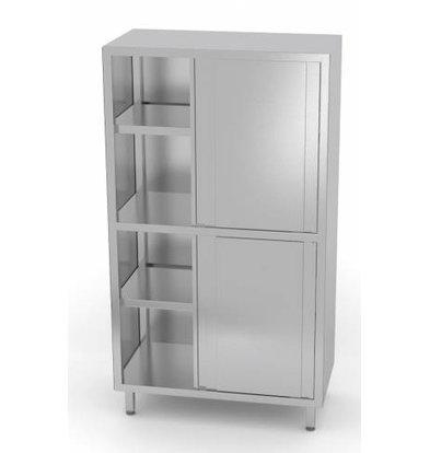 XXLselect Crockery Cupboard SS + 4 + 3 Sliding Shelves | HEAVY DUTY | 800x600x1800 (h) mm | CHOICE OF 5 WIDTHS