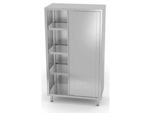 XXLselect Crockery Cupboard SS + 2 Doors + 3 Shelves | HEAVY DUTY | 800x500x2000 (h) mm | CHOICE OF 5 WIDTHS
