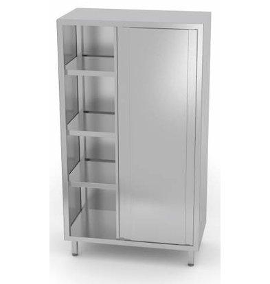 XXLselect Crockery Cupboard SS + 2 Doors + 3 Shelves | HEAVY DUTY | 800x500x1800 (h) mm | CHOICE OF 5 WIDTHS