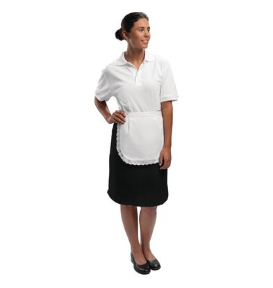 Whites Chefs Clothing Serve Apron with bag - White - Unisex