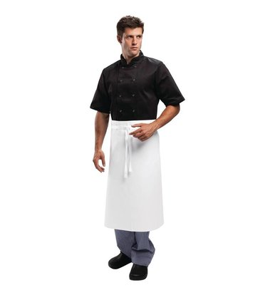 Whites Chefs Clothing Whites Catering Sloof - Fixed tape - 75 x 90 cm - White - Unisex