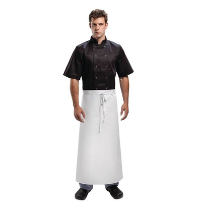 Whites Chefs Clothing Standard Catering Sloof - Long - 90x90cm - White - Unisex