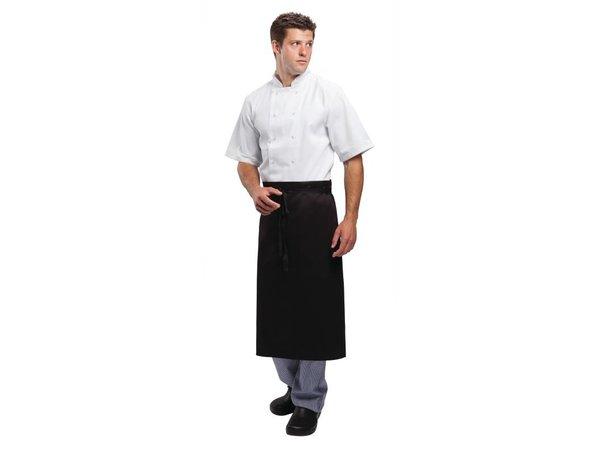 Whites Chefs Clothing Whites Horeca Sloof - Vaste band - Lang - 915(B), 762mm(L) - Zwart - Unisex