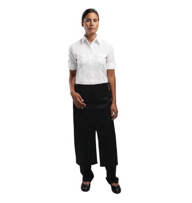 Chef Works Uniform Works bistro apron - Size 75 (L) x 80 (W) cm - Black - Unisex