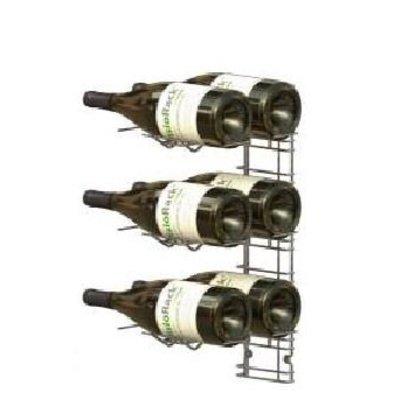 XXLselect WijnFlessenrek Presentation 6 Magnum Bottles - 3 levels