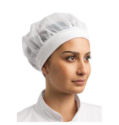 Whites Chefs Clothing Whites Muts - Nylon - Universele maat - Wit - Dames