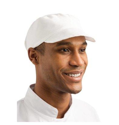 Whites Chefs Clothing Whites Bakkers Cap - Wit - Universele maat - Unisex