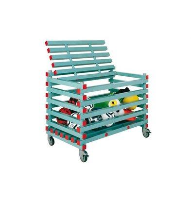 XXLselect Storage Cart with Plastic Lid On Wheels - 120x70x (h) 91cm