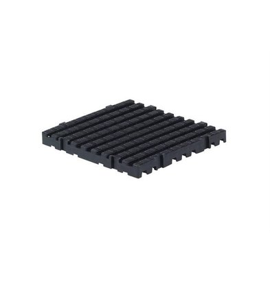 XXLselect Anti-slip Floor Tile Square Hard - 50x50x5cm - Black - Per Two Pieces