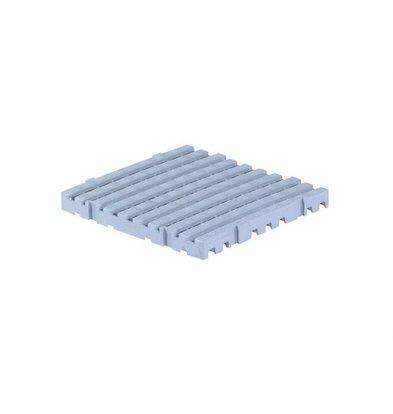 XXLselect Anti-slip Vloertegel Vierkant Hard - 50x50x5cm - Grijs - Per Twee Stuks