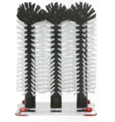 Bar Professional Spoelborstel aluminium voet 3-delig - 3x25cm
