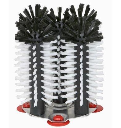 Bar Professional Spoelborstel aluminium voet 5-delig - 5x18cm