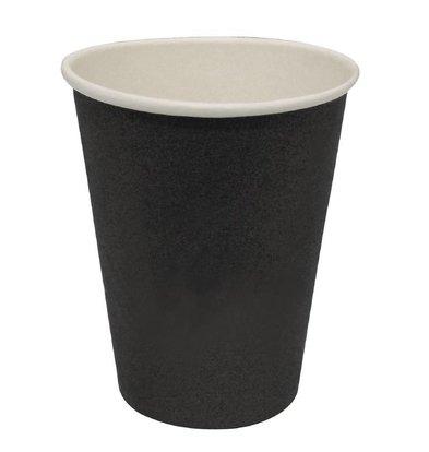 Fiesta Hot cups Beker - Zwart - 23cl - Disposable - Aantal stuks 50