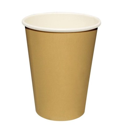 Fiesta Hot cups Beker - Lichtbruin - 23cl - Disposable - Aantal stuks 50