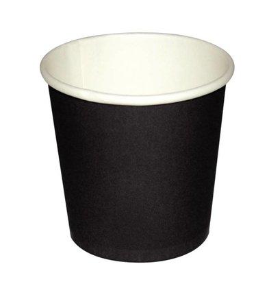 Fiesta Espresso Beker - Zwart - 11cl - Disposable - Aantal 50 stuks