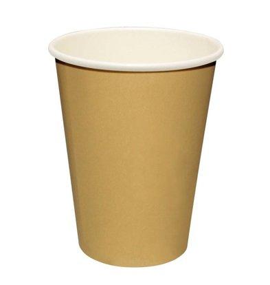 Fiesta Hot cups Beker - Lichtbruin - 23cl - Disposable - Aantal stuks 1000