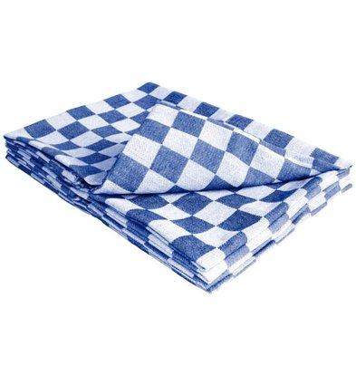 XXLselect 10 x Horeca Theedoeken! - Blauw / Wit Geruite Klassieke Theedoek - 65x65 cm - ZEER POPULAIR!