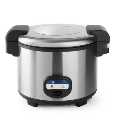 Hendi Rice Cooker Double walled - stainless steel - 30/35 people - 10 Liter / 5.4 Liter