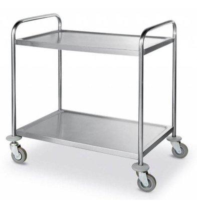 Hendi Serving trolley - 2 trays - 900x590x (h) 930mm - 100Kg