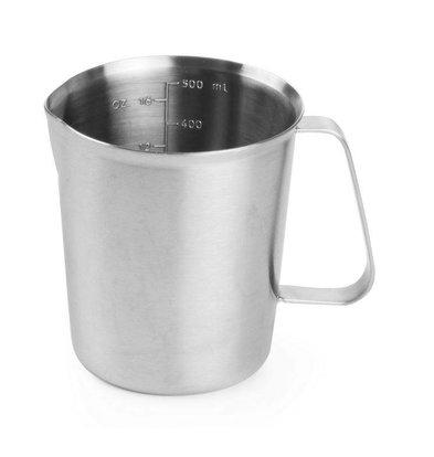 Hendi Measuring cup / Jug of stainless steel - Ø90x110 mm - 0.5 Liter