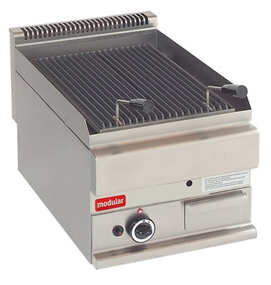 Modular Lavasteengrill 650 Modular - Propaan - Glad - 40x65x(h)28cm - 5 kW