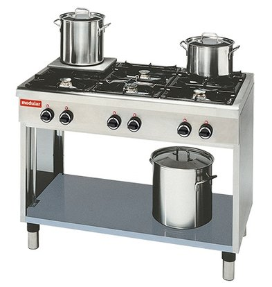 Modular Stove 650 Modular - Gas - 6 Pits With Open Frame - 110x65x (h) 85cm - 25.8 kW
