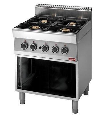 Modular 700 Modular stove - gas - 4 Burners - With Open Frame - 70x70x (h) 85cm - 18.4 kW