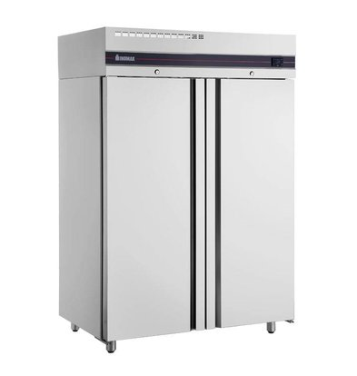 XXLselect Double stainless steel Horeca Freezer - 1432 liters - 1215 W - 144x83x (h) 212cm