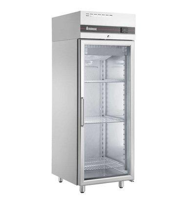 XXLselect Catering Freezer Stainless Steel - Glass Door - 654 liters - 908 W - 72x82x (h) 212cm