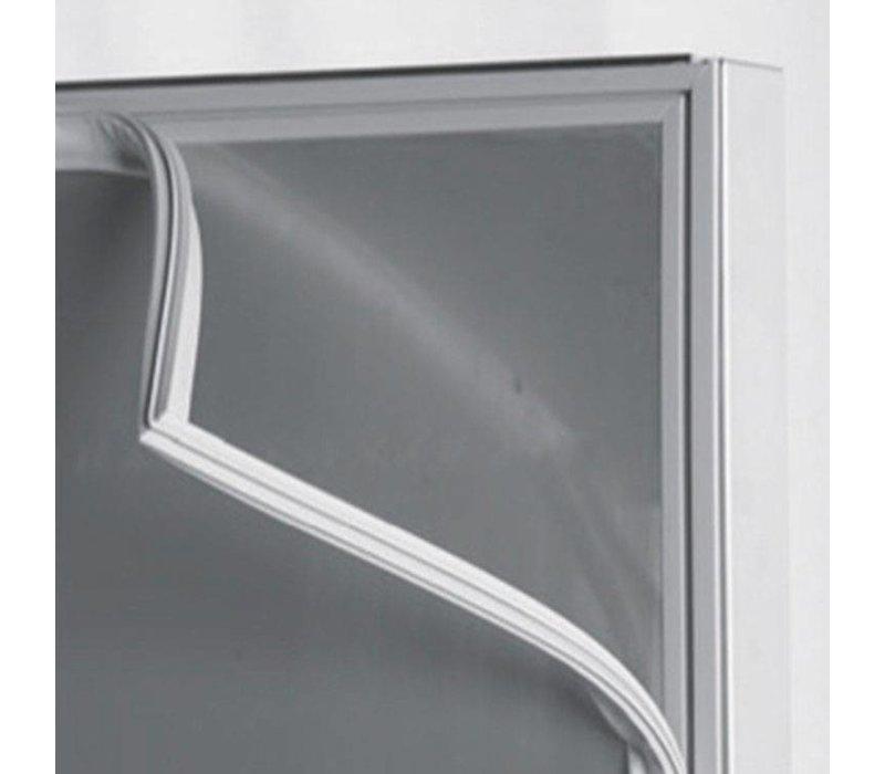 Inomak Horeca Vrieskast RVS - Glazen Deur - 654 Liter - 908 W - 72x82x(h)212cm