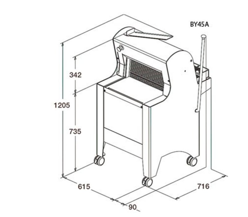 Sofinor Broodsnijmachine   Wit   Semi-Automatisch   Brood via Achterzijde   550 W