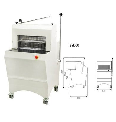 Sofinor Broodsnijmachine | Semi-Automatisch | Brooddikte 11-16mm | 490W