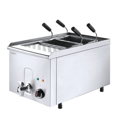 Combisteel Pastry cooker with drain tap | Including Baskets | 3.5 kW | 40x68x (h) 37cm