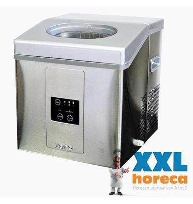 Saro Ice machine - Stainless steel housing - three adjustable sizes - 15 kg / 24h - 2 years warranty