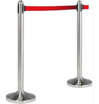 Securit Barrier post Chrome 13 kg - Red drawstring 210 cm - HEAVY DUTY - XXL OFFER!