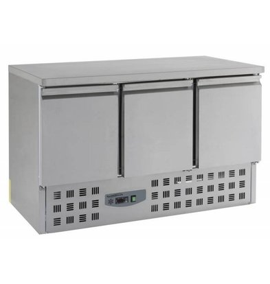 Combisteel Cool Workbench - Stainless Steel - 3 door - 136x70x (h) BASIC 87cm-