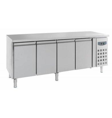 Combisteel Cool Workbench 4 doors - Stainless Steel - 223x70x (h) 85cm