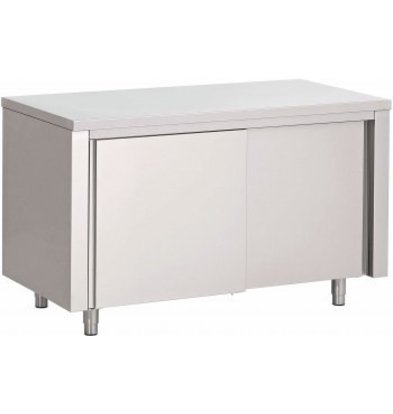 Combisteel Stainless steel worktable + Doors   800 (b) x700 (d) mm   CHOICE OF 6 WIDTHS