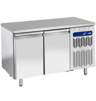 Diamond Ventilated freezer table | 2 Doors | Temperature: -10 ° -20 ° | 600x400